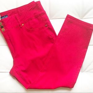 Indigo Poppy Red Ankle Length Pants Size 22
